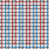Voorbeeld van een dubbele meanderpatroon