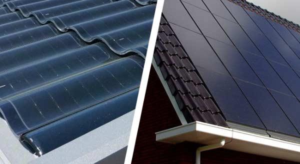Verschil tussen geïntegreerde of zonnepaneel dakpannen