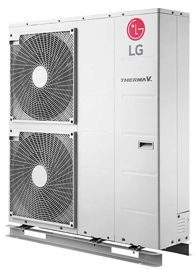 LG monobloc lucht/water warmtepomp