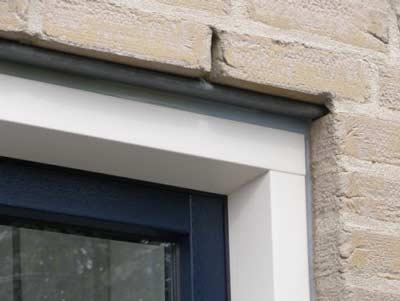 Hollandse hoek PVC raam