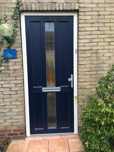PVC voordeur met houtlook
