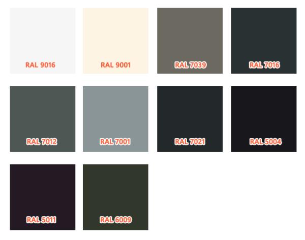 Welke RAL kleuren zijn populair voor schuiframen