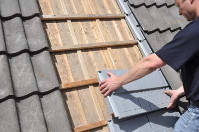 RecaPan EPS elementen aan de buitenzijde van het dak