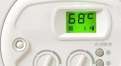Temperatuur instellen van de verwarmingsketel