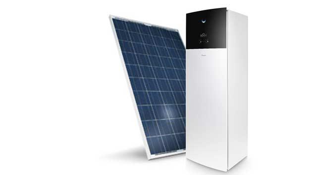 Warmtepomp in combinatie met zonnepanelen
