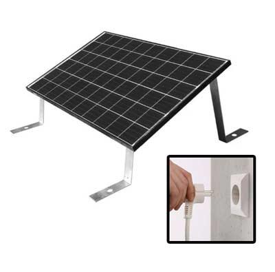 Hoe werken zonnepanelen met stekker?