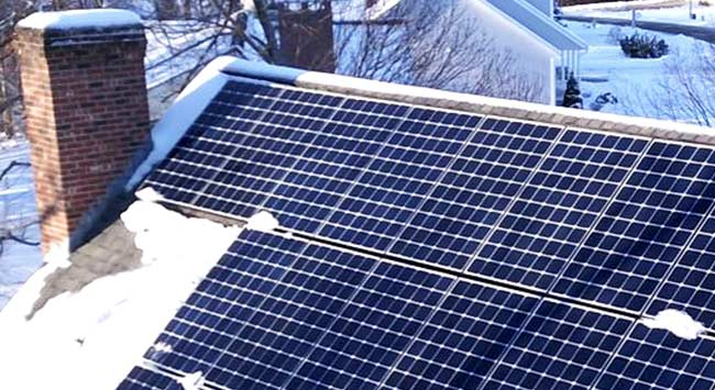Leveren zonnepanelen elektriciteit op in de kou?